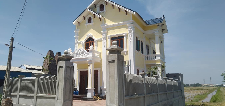 Mẫu biệt thự 2 tầng 110m2 phong cách tân cổ điển tại Nam Định