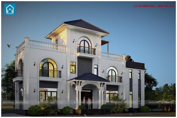 Thiết kế biệt thự nhà anh Hòa Điện Biên