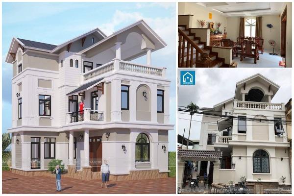 Biệt thự 3 tầng mái thái đơn giản của anh Thịnh, Yên Mỹ, Thanh Trì