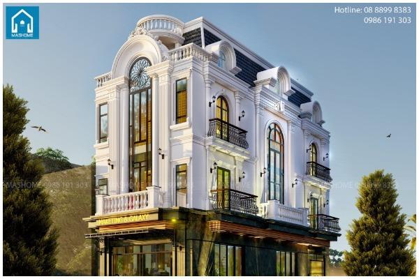 Biệt thự 3 tầng tân cổ điển anh Định tại Hòa Bình