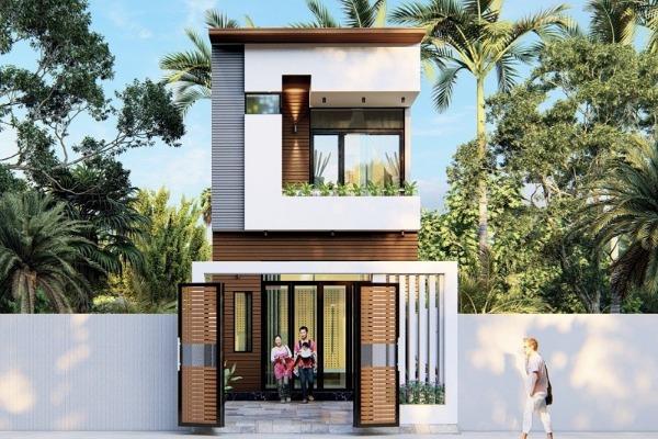 Thiết kế nhà phố 5x25 của anh Cường Hải Dương