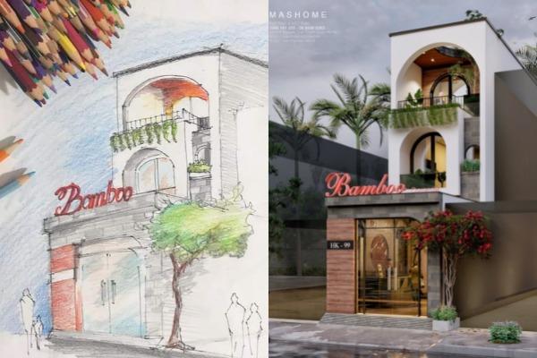 Thiết kế nhà phố 2 tầng kết hợp kinh doanh tại Bắc Giang