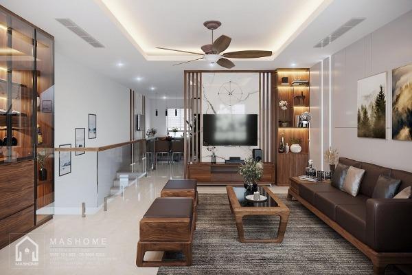 Thiết kế nội thất khu liền kề Văn Phú của anh Chính