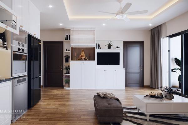 Thiết kế nội thất nhà phố liền kề anh Vĩ Hà Đông