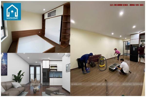 Thi công thiết kế nội thất chung cư 48m2 tại Tháp Doanh Nhân 1608
